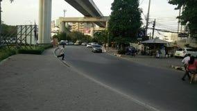 Highway in bangna,bangkok stock footage