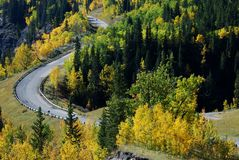 Highway in a beautiful shape Royalty Free Stock Photo