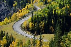 Highway in a beautiful shape Stock Photography