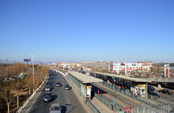 Highway in Beijing in China. In China capital of Beijing city of Victoria traffic Stock Photos