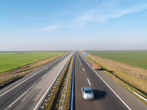Highway Belgrade-Novi Sad Stock Images