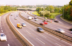 Highway in Berlin Germany Royalty Free Stock Image