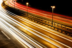 Motorway / Highway at Night Royalty Free Stock Photos