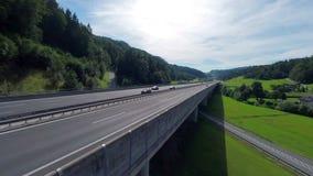 Highway on a big bridge stock video footage
