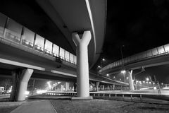 Highway in the big city in night Stock Photo