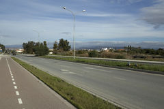 A highway and a bike path. Stock Photography