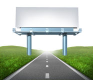 Highway billboard Royalty Free Stock Image