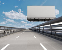 Highway with billboard Stock Photography