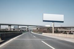 Highway billboard Royalty Free Stock Photos