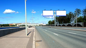 Highway billboards Stock Images