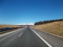 Highway and blue sky stock photography