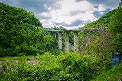 Highway bridge in beauty spot Stock Photography