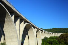 Highway bridge and blue sky Royalty Free Stock Photos