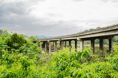 Highway bridge in cloudy spring Stock Photography