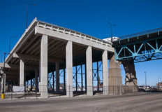 Highway Bridge Construction Royalty Free Stock Images