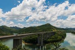 On the highway bridge Stock Photography