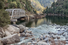Highway bridge in the Feather River Canyon Royalty Free Stock Images