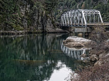 Highway bridge, Feather River Canyon Royalty Free Stock Photo