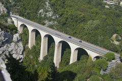 Highway bridge in france Stock Images