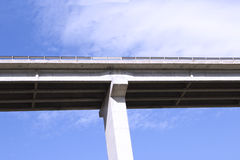 Highway bridge. In front of blue sky Stock Photography
