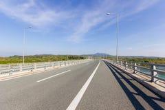 Highway bridge in Greece Stock Images