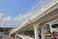 Highway bridge at gushan ferry pier Royalty Free Stock Photo