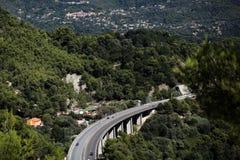 Highway bridge among mountains Royalty Free Stock Image