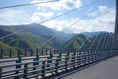 Highway and bridge in the  mountains Stock Image