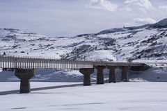 Highway Bridge over Blue Mesa Reservoir Royalty Free Stock Photo