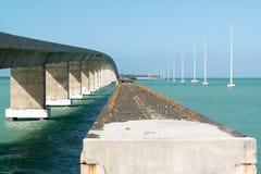 Highway bridge over Channel 2, Florida Keys, USA Royalty Free Stock Images