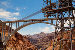 The highway bridge over the Hoover Dam Royalty Free Stock Image