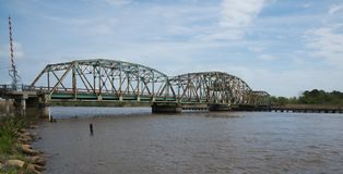 Highway 90 bridge over the Pearl River royalty free stock photography