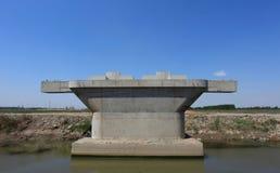 A highway bridge pier Royalty Free Stock Photo