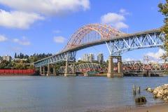 Highway bridge and railway bridge Stock Image