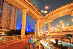 Highway bridge in Shanghai Stock Photo