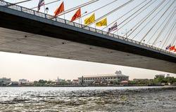 Highway Bridge under view. Royalty Free Stock Image