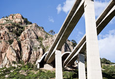Highway bridges. Along the highway Palermo Messina Royalty Free Stock Images