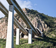 Highway bridges. Along the highway Palermo Messina stock image