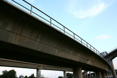 Highway bridges. Intersections, suspended train railway Stock Image