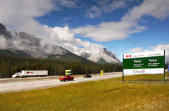 Highway, British Columbia, Canada Royalty Free Stock Photos