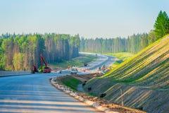 highway budowy nowej Obrazy Royalty Free