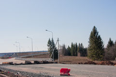 highway budowy nowej Zdjęcia Royalty Free