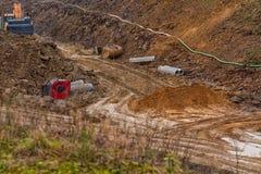 highway budowy nowej Fotografia Stock