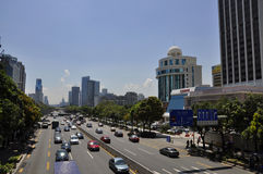 Highway. Busy highway is a symbol of the city  bustling Royalty Free Stock Photo