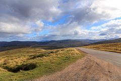 Highway through the Cairngorms royalty free stock photography