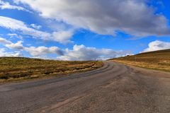 Highway through the Cairngorms stock image