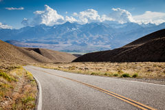 Highway in California. With distant mountains on the horizon Stock Images