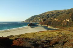 Highway California 1 Pacific Ocean Coast Royalty Free Stock Photography