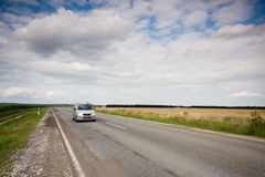 Highway with car Royalty Free Stock Photos