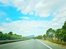 Highway in Catalonia, Spain Stock Images